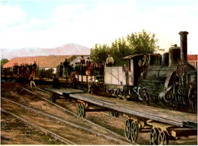 H αναχώρηση του πρώτου τρένου της σιδηροδρομικής γραμμής που ένωνε τη Θεσσαλονίκη με το Μοναστήρι (Bitola)
