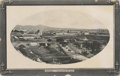 Πανοραμική άποψη της περιοχής του σιδηροδρομικού σταθμού Θεσσαλονίκης